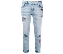 Bestickte Five-Pocket-Jeans