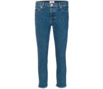 Klassische Cropped-Skinny-Jeans