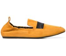 Wildleder-Loafer mit Logo-Band
