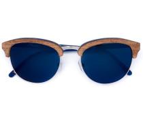 Holzsonnenbrille mit rundem Gestell
