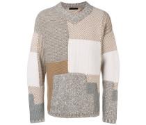 Pullover im Patchwork-Design