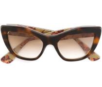 Caty-Eye-Sonnenbrille in Schilpattoptik