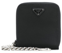Saffiano chain wallet