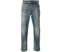 Tapered-Jeans mit Washed-Effekt