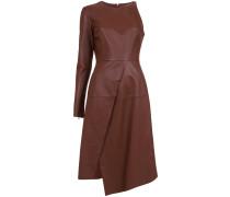 leather one shoulder dress