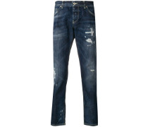 Schmale Jeans mit Distressed-Optik