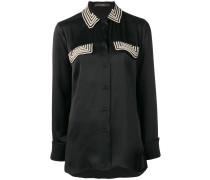 beaded longline shirt