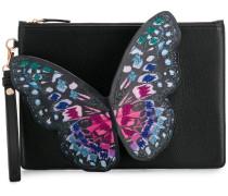 butterfly embellished clutch bag