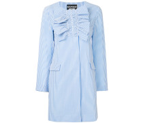 ruched striped coat