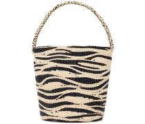 Beuteltasche mit Zebra-Muster