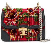 Scottish check chain bag