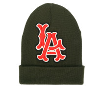 "x MLB Beanie mit ""LA""-Patch"