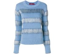 Pullover mit Samteinsätzen