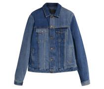 Jeansjacke in zwei Blautönen