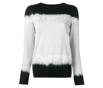 pullover with dip-dye