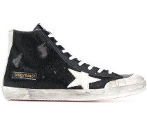 'Black Pony White Star' Sneakers