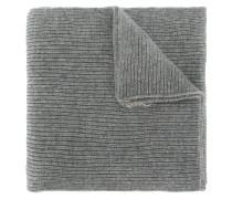 Gerippter Schal mit Logo-Stickerei