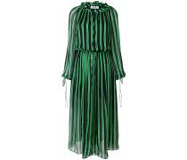 billowing striped dress