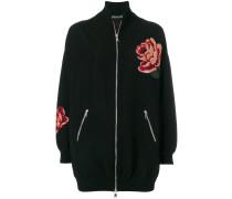 Rose Tapestry Oversized Knitted bomber jacket