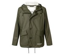 short buttoned coat