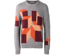 cubic intarsia knit jumper