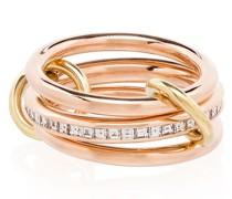18kt 'Rene' Goldring mit Diamanten