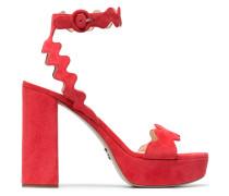 Red 115 suede platform sandals