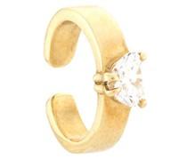 18kt Ear Cuff aus Gelbgold mit einem Diamanten