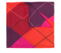 graphic print scarf