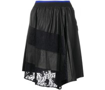 lace panel asymmetric skirt