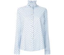 polka dot high neck shirt