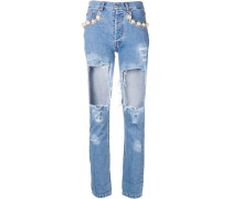 Jeans im Distressed-Look