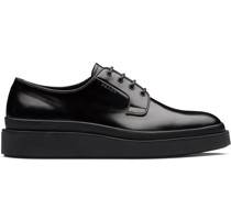 Derby-Schuhe aus gebürstetem Leder