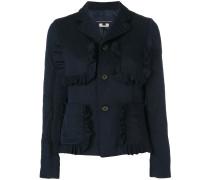 ruffled pockets jacket