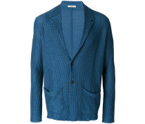 knitted fitted blazer