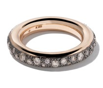18kt 'Iconica' Rotgoldring mit Diamanten