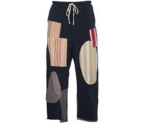 Cropped-Hose mit Patchwork-Design