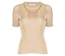 chain link ribbed knitted top