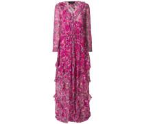 long floral ruffle dress