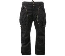 Cropped-Hose mit Reißverschlusstaschen