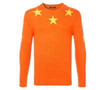 Pullover mit Intarsien-Sternen