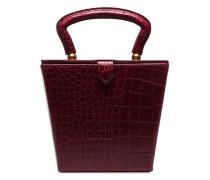 'Sadie' Box-Bag mit Kroko-Effekt
