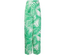 Jacquard-Hose mit Palmblättern