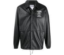leather branded jacket