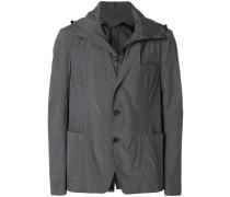 layered hooded blazer jacket