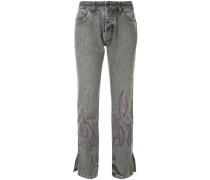 'Kiss' Jeans mit Strass