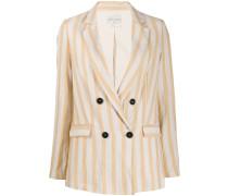 boxy striped blazer