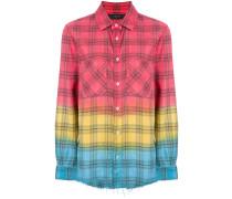 tie dye plaid shirt