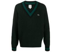 cable knit v-neck jumper