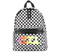 Cool Summer checkered print backpack